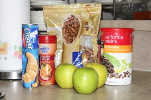 Ingredients for Apple Pecan Crescent Rolls