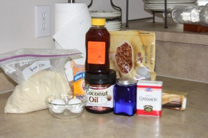 Ingredients for Almond Flour Cinnamon Rolls