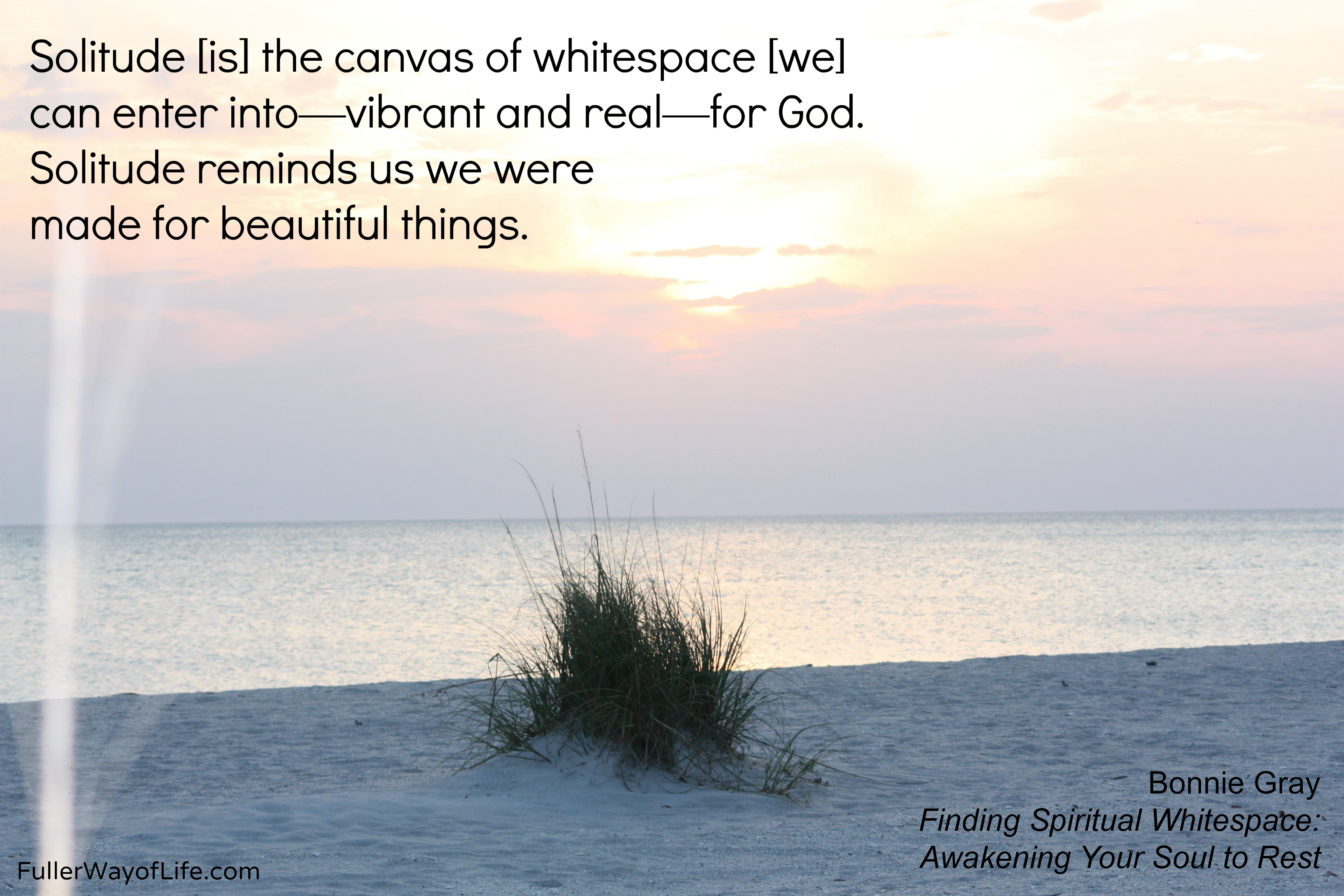 solitude   Fuller Way of Life