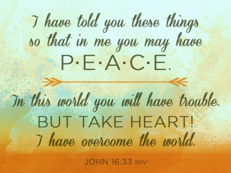 PEACE - I Have Overcome the World