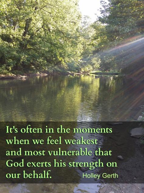 God Exerts His Strength