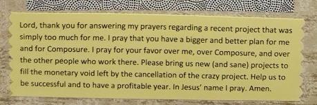 Composure prayer
